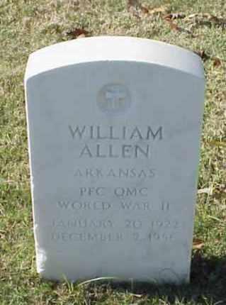 ALLEN (VETERAN WWII), WILLIAM - Pulaski County, Arkansas | WILLIAM ALLEN (VETERAN WWII) - Arkansas Gravestone Photos