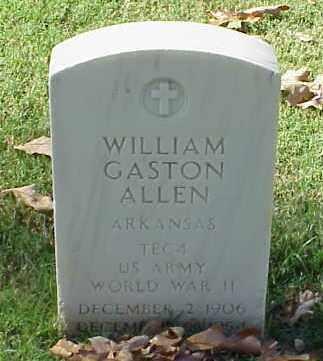 ALLEN (VETERAN WWII), WILLIAM GASTON - Pulaski County, Arkansas | WILLIAM GASTON ALLEN (VETERAN WWII) - Arkansas Gravestone Photos