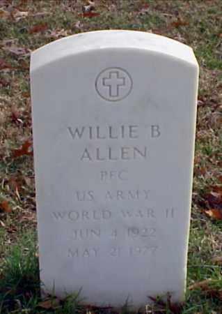 ALLEN (VETERAN WWII), WILLIE B - Pulaski County, Arkansas | WILLIE B ALLEN (VETERAN WWII) - Arkansas Gravestone Photos