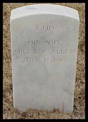 ALLEN, MRS. SAMUEL R - Pulaski County, Arkansas | MRS. SAMUEL R ALLEN - Arkansas Gravestone Photos