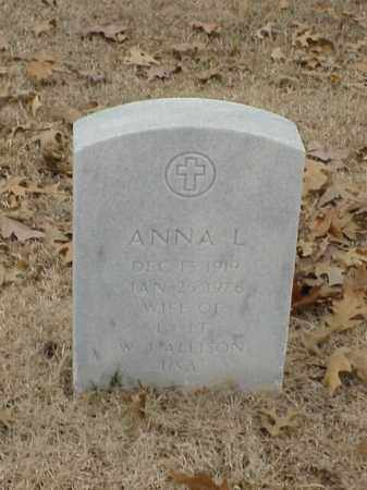 ALLISON, ANNA L - Pulaski County, Arkansas | ANNA L ALLISON - Arkansas Gravestone Photos