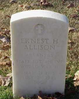 ALLISON (VETERAN WWII), ERNEST H - Pulaski County, Arkansas   ERNEST H ALLISON (VETERAN WWII) - Arkansas Gravestone Photos