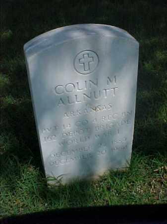 ALLNUTT (VETERAN  WWI), COLIN M - Pulaski County, Arkansas | COLIN M ALLNUTT (VETERAN  WWI) - Arkansas Gravestone Photos