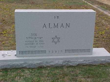 ALMAN, SOL - Pulaski County, Arkansas | SOL ALMAN - Arkansas Gravestone Photos