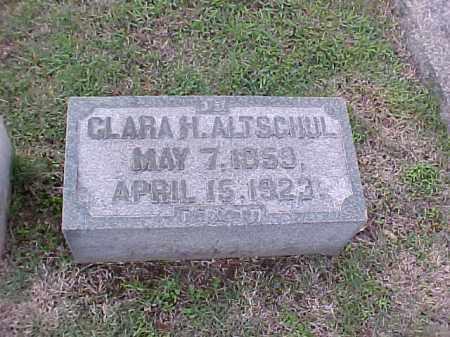 ALTSCHUL, CLARA H - Pulaski County, Arkansas   CLARA H ALTSCHUL - Arkansas Gravestone Photos