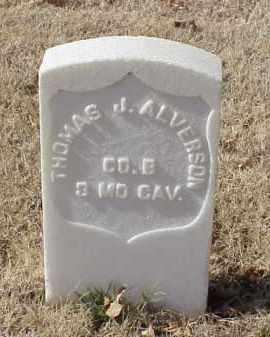 ALVERSON (VETERAN UNION), THOMAS J - Pulaski County, Arkansas | THOMAS J ALVERSON (VETERAN UNION) - Arkansas Gravestone Photos