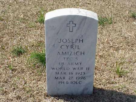 AMIZICH (VETERAN WWII), JOESPH CYRIL - Pulaski County, Arkansas | JOESPH CYRIL AMIZICH (VETERAN WWII) - Arkansas Gravestone Photos
