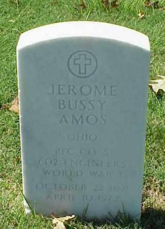 AMOS (VETERAN WWI), JEROME BUSSY - Pulaski County, Arkansas   JEROME BUSSY AMOS (VETERAN WWI) - Arkansas Gravestone Photos