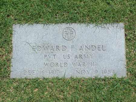 ANDEL (VETERAN WWII), EDWARD F - Pulaski County, Arkansas   EDWARD F ANDEL (VETERAN WWII) - Arkansas Gravestone Photos
