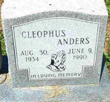 ANDERS, CLEOPHUS - Pulaski County, Arkansas | CLEOPHUS ANDERS - Arkansas Gravestone Photos