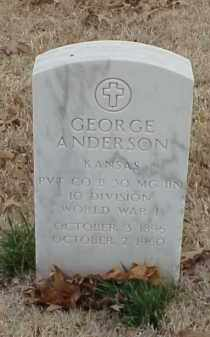 ANDERSON  (VETERAN  WWI), GEORGE - Pulaski County, Arkansas   GEORGE ANDERSON  (VETERAN  WWI) - Arkansas Gravestone Photos
