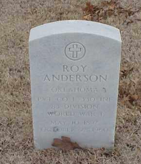 ANDERSON  (VETERAN WWI), ROY - Pulaski County, Arkansas | ROY ANDERSON  (VETERAN WWI) - Arkansas Gravestone Photos