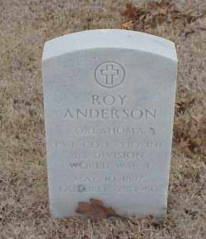 ANDERSON  (VETERAN WWI), ROY - Pulaski County, Arkansas | ROY ANDERSON  (VETERAN WWI) - Arkansas Gravestone Photos