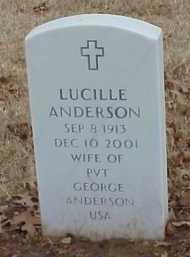 ANDERSON, LUCILLE - Pulaski County, Arkansas | LUCILLE ANDERSON - Arkansas Gravestone Photos