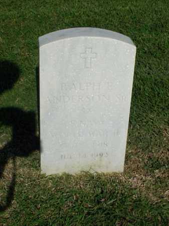 ANDERSON, SR (VETERAN WWII), RALPH E - Pulaski County, Arkansas   RALPH E ANDERSON, SR (VETERAN WWII) - Arkansas Gravestone Photos