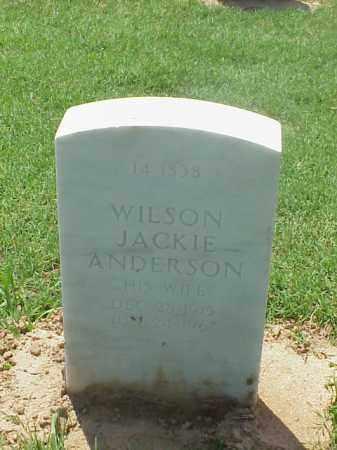 ANDERSON, WILSON JACKIE - Pulaski County, Arkansas | WILSON JACKIE ANDERSON - Arkansas Gravestone Photos