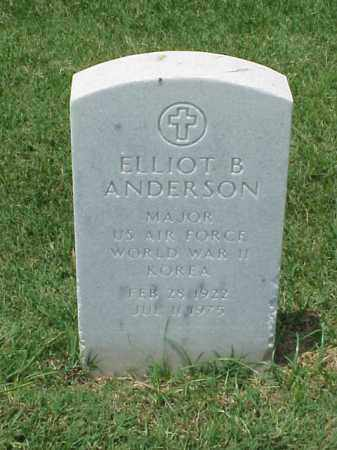 ANDERSON (VETERAN 2WARS), ELLIOT B - Pulaski County, Arkansas | ELLIOT B ANDERSON (VETERAN 2WARS) - Arkansas Gravestone Photos