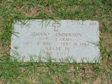 ANDERSON (VETERAN), JOHNNY - Pulaski County, Arkansas   JOHNNY ANDERSON (VETERAN) - Arkansas Gravestone Photos