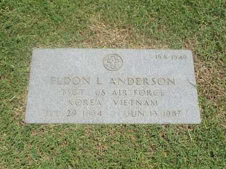 ANDERSON (VETERAN 2WARS), ELDON LEROY - Pulaski County, Arkansas   ELDON LEROY ANDERSON (VETERAN 2WARS) - Arkansas Gravestone Photos