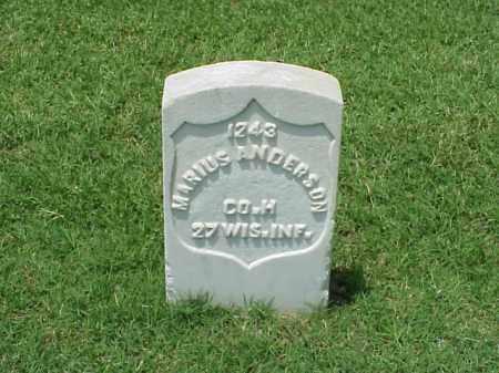 ANDERSON (VETERAN UNION), MARIUS - Pulaski County, Arkansas   MARIUS ANDERSON (VETERAN UNION) - Arkansas Gravestone Photos