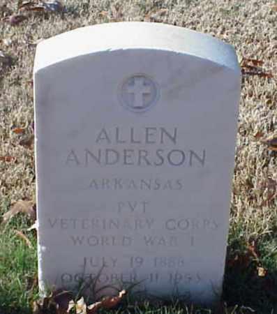 ANDERSON (VETERAN WWI), ALLEN - Pulaski County, Arkansas | ALLEN ANDERSON (VETERAN WWI) - Arkansas Gravestone Photos