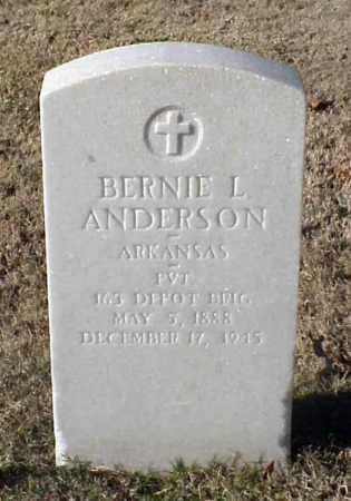 ANDERSON (VETERAN WWI), BERNIE L - Pulaski County, Arkansas   BERNIE L ANDERSON (VETERAN WWI) - Arkansas Gravestone Photos