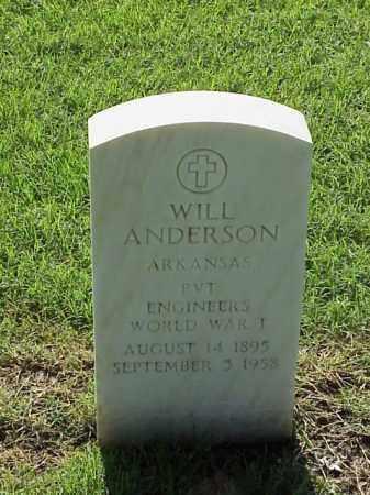 ANDERSON (VETERAN WWI), WILL - Pulaski County, Arkansas | WILL ANDERSON (VETERAN WWI) - Arkansas Gravestone Photos