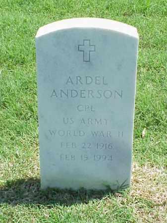 ANDERSON (VETERAN WWII), ARDEL - Pulaski County, Arkansas   ARDEL ANDERSON (VETERAN WWII) - Arkansas Gravestone Photos