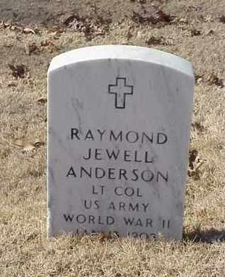 ANDERSON (VETERAN 2WARS), RAYMOND JEWELL - Pulaski County, Arkansas | RAYMOND JEWELL ANDERSON (VETERAN 2WARS) - Arkansas Gravestone Photos