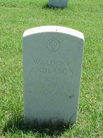 ANDERSON (VETERAN WWII), WALDO V - Pulaski County, Arkansas   WALDO V ANDERSON (VETERAN WWII) - Arkansas Gravestone Photos