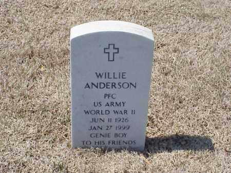 ANDERSON (VETERAN WWII), WILLIE - Pulaski County, Arkansas | WILLIE ANDERSON (VETERAN WWII) - Arkansas Gravestone Photos
