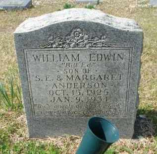 ANDERSON, WILLIAM EDWIN - Pulaski County, Arkansas | WILLIAM EDWIN ANDERSON - Arkansas Gravestone Photos