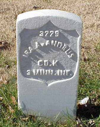 ANDRUS (VETERAN UNION), IRA A - Pulaski County, Arkansas | IRA A ANDRUS (VETERAN UNION) - Arkansas Gravestone Photos