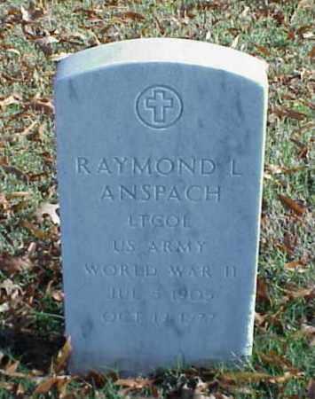 ANSPACH (VETERAN WWII), RAYMOND L - Pulaski County, Arkansas | RAYMOND L ANSPACH (VETERAN WWII) - Arkansas Gravestone Photos