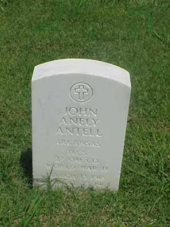 ANTELL (VETERAN WWII), JOHN ANELY - Pulaski County, Arkansas | JOHN ANELY ANTELL (VETERAN WWII) - Arkansas Gravestone Photos