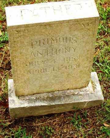 ANTHONY, PRIMOUS - Pulaski County, Arkansas | PRIMOUS ANTHONY - Arkansas Gravestone Photos