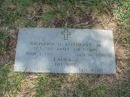 ANTHONY, JR (VETERAN WWII), RICHARD D - Pulaski County, Arkansas   RICHARD D ANTHONY, JR (VETERAN WWII) - Arkansas Gravestone Photos