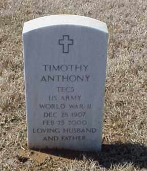 ANTHONY (VETERAN WWII), TIMOTHY - Pulaski County, Arkansas | TIMOTHY ANTHONY (VETERAN WWII) - Arkansas Gravestone Photos