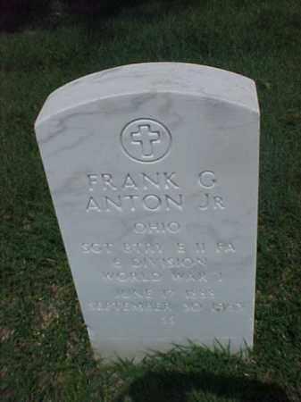 ANTON, JR (VETERAN WWI), FRANK G - Pulaski County, Arkansas | FRANK G ANTON, JR (VETERAN WWI) - Arkansas Gravestone Photos