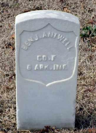 ANTWELL (VETERAN UNION), BENJAMIN - Pulaski County, Arkansas | BENJAMIN ANTWELL (VETERAN UNION) - Arkansas Gravestone Photos
