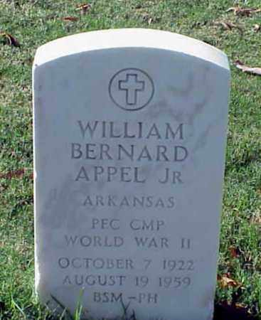 APPEL, JR (VETERAN WWII), WILLIAM BERNARD - Pulaski County, Arkansas | WILLIAM BERNARD APPEL, JR (VETERAN WWII) - Arkansas Gravestone Photos