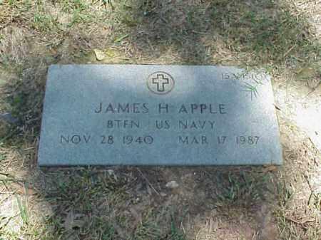 APPLE (VETERAN), JAMES H - Pulaski County, Arkansas   JAMES H APPLE (VETERAN) - Arkansas Gravestone Photos