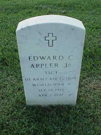 APPLER, JR (VETERAN WWII), EDWARD C - Pulaski County, Arkansas | EDWARD C APPLER, JR (VETERAN WWII) - Arkansas Gravestone Photos