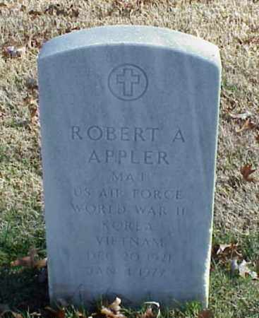APPLER (VETERAN 3WARS), ROBERT A - Pulaski County, Arkansas | ROBERT A APPLER (VETERAN 3WARS) - Arkansas Gravestone Photos
