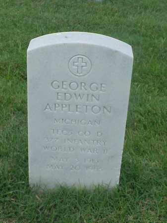 APPLETON (VETERAN WWII), GEORGE EDWIN - Pulaski County, Arkansas | GEORGE EDWIN APPLETON (VETERAN WWII) - Arkansas Gravestone Photos