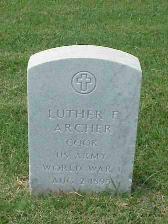 ARCHER (VETERAN WWI), LUTHER F - Pulaski County, Arkansas | LUTHER F ARCHER (VETERAN WWI) - Arkansas Gravestone Photos