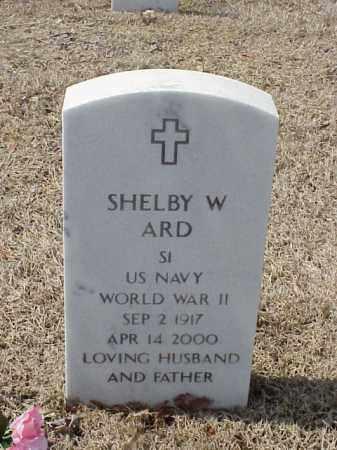 ARD  (VETERAN WWII), SHELBY W - Pulaski County, Arkansas | SHELBY W ARD  (VETERAN WWII) - Arkansas Gravestone Photos