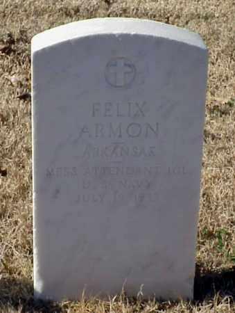 ARMON (VETERAN), FELIX - Pulaski County, Arkansas | FELIX ARMON (VETERAN) - Arkansas Gravestone Photos