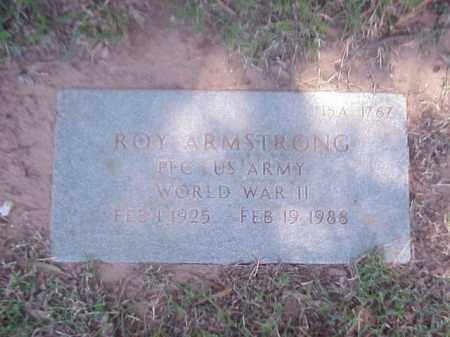 ARMSTRONG (VETERAN WWII), ROY - Pulaski County, Arkansas   ROY ARMSTRONG (VETERAN WWII) - Arkansas Gravestone Photos
