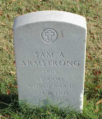 ARMSTRONG (VETERAN WWII), SAM A - Pulaski County, Arkansas | SAM A ARMSTRONG (VETERAN WWII) - Arkansas Gravestone Photos